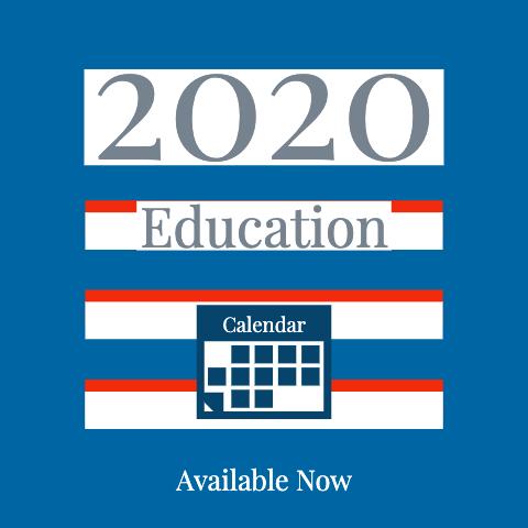 2020 Education Calendar